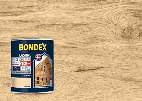 BONDEX - LASURE ULTIM'PROTECT 12 ANS - Peinture Satinée Haute Tenue - Satin - Incolore - 1L