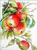 Poster 60 x 80 cm: reife Äpfel von Maria Földy - Hochwertiger Kunstdruck, Neues Kunstposter