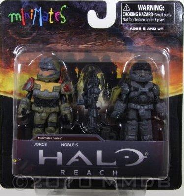 Halo Minimates Series 1 Mini Figure 2Pack Jorge Noble 6 by Diamond Select (Mini Halo 2)