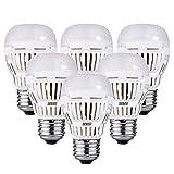 SANSI Led E27 Kaltweiß 100w 5000K LED Lampe Energiesparlampe 9W 900lm Ultrahell Edison Glühbirne Nicht Dimmbar,6er-Pack