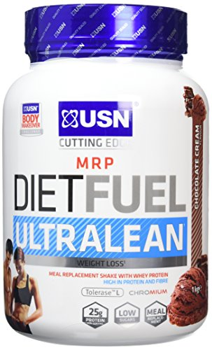 USN Diet Fuel Ultralean Weight Control Meal Replacement Shake Powder, Chocolate Cream - 1 kg
