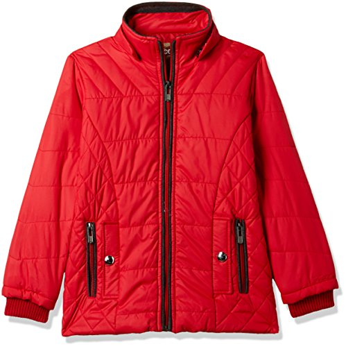 Fort Collins Girls' Regular Fit Synthetic Jacket (69151_Red_36 (15 - 16 years))