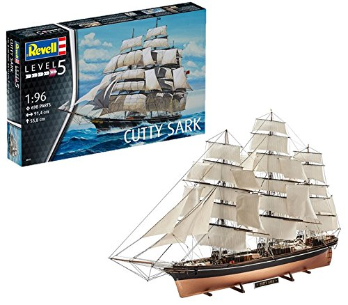 Revell- Maqueta Cutty Sark, Kit Modello, Escala 1:96 (5422) (05422), 91,4 cm de Largo (