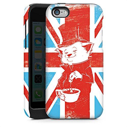 Apple iPhone 4 Housse Étui Silicone Coque Protection Grande-Bretagne UK Chat Cas Tough brillant