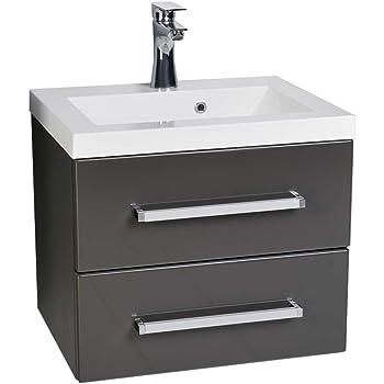 quentis waschplatzset genua 50 2 teilig waschbecken und unterschrank front und korpus. Black Bedroom Furniture Sets. Home Design Ideas