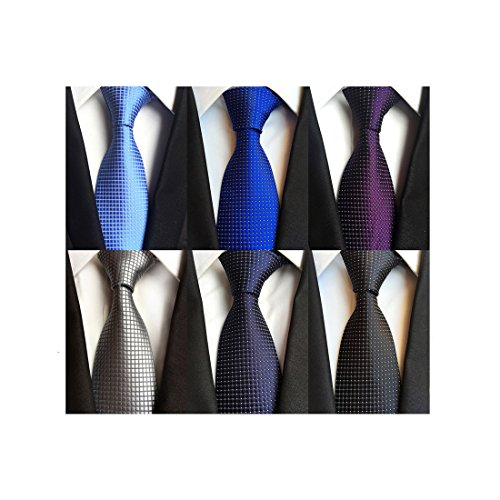 LOLONG Men's Classic Silk Tie Se...