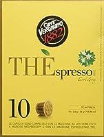 10 CAPSULE THE'SPRESSO Earl Grey VERGNANO - compatibile Nespresso. Caffè Vergnano ha racchiuso in una capsula la selezione della migliore qualità di tè nero profumato al bergamotto: un classico per palati esigenti. Capsule di tè in foglia con...