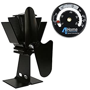 4yourhome eco friendly silent heat powered stove fan for. Black Bedroom Furniture Sets. Home Design Ideas