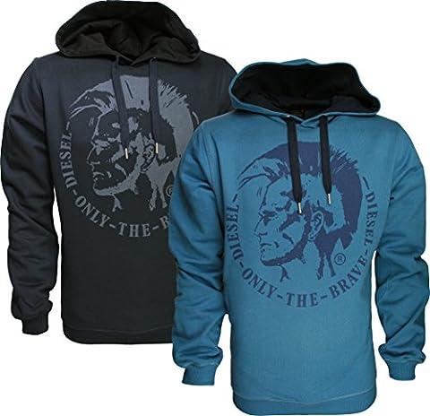 MENS DIESEL HOODY SUZANNE- Mohawk Graphic Hoodie Sweatshirt Tshirt