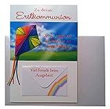 Glückwunschkarte Zur Kommunion Karte Geldgeschenk Grußkarte bunter Drache