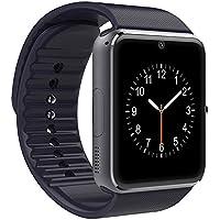 AxCella Bluetooth Smartwatch 1.54 '' Pulgadas Multi-languages Reloj inteligente con cámara y compatible con SIM y TF Tarjeta Smart Watch Band Pulsera compatible con teléfono móvil Android (Negro)