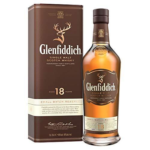 Glenfiddich Single Malt Scotch Whisky 18 Jahre - kleine Spezial-Auflage des meistverkauften Malt Scotch Whisky der Welt mit Geschenkverpackung, 1 x 0,7l, 40% Vol. -