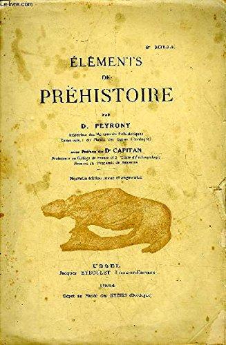 Eléments de préhistoire par Peyrony d.