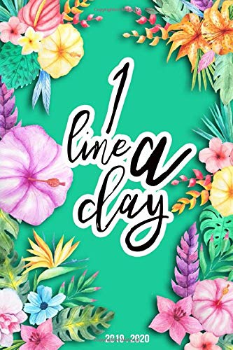 One Line A Day: 2019 Planner Weekly And Monthly Calendar Daily Organizer | With Minimal Floral Cover | Volume 19 Lilly Pulitzer Kinder