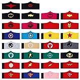 Braccialetti per Bambini Superhero Bracciale in Feltro per Ragazzi e Ragazze per Natale Halloween Supereroe Compleanno Feste Bomboniere 30 Pezzi