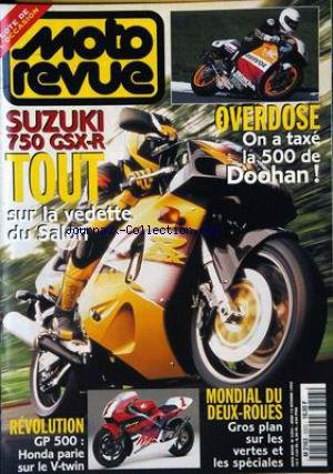 MOTO REVUE [No 3203] du 12/10/1995 - SUZUKI 750 GSX-R TOUT SUR LA VEDETTE DU SALON. OVERDOSE : ON A TAXE LA 500 DOOHAN ! REVOLUTION GP 500 : HONDA PARIE SUR LE V-TWIN. MONDIAL DU DEUX-ROUES : GROS PLAN SUR LES VERTES ET LES SPECIALES.