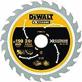 Dewalt XR Extreme Runtime Kreissaegeblatt Handkreissäge, 1 Stück, 190/30 mm 24 WZ/FZ, DT99562-QZ