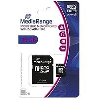 Mediarange MR958 - Tarjeta Micro SDHC de 16 GB, Clase 10, con adaptador