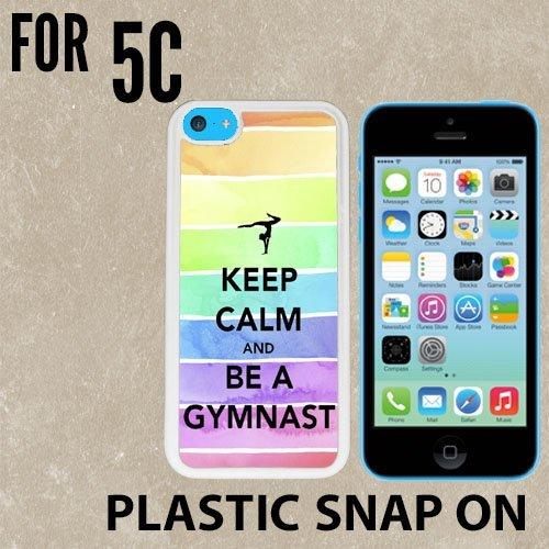 INNOSUB USA Schutzhülle für iPhone 5C (aufsteckbar, Kunststoff, Motiv Hipster Keep Calm Be A Gymnastics Gymnast Love) Weiß (Hipster Spade Kate)