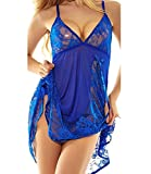 NINGMI Sexy Babydoll Lingerie Lace Nightwear Outfits Dress Set