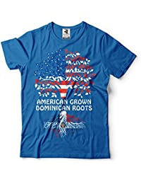 Silk Road Tees República Dominicana Hombres Camiseta de American Grown Roots República Dominicana Camiseta