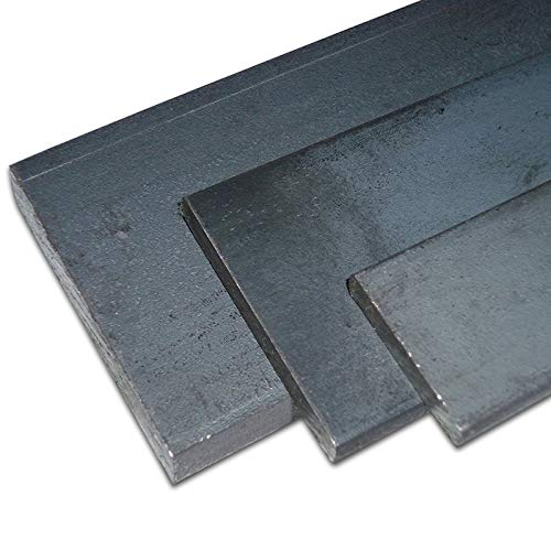 B&T Metall Stahl Flachstahl | Bandstahl S235JR+AR ST 37, roh, gewalzt, schwarz | Maße 60 x 5 mm, Länge ca. 1,5 m