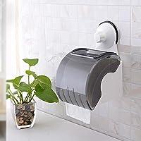 SBWYLT-Asciugamani di carta semplice cupule chiodo-trapano libera potente impermeabile Portarotolo vassoio di plastica carta igienica senza traccia