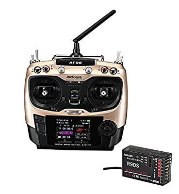 ZCGC-UK Radiolink AT9S Transmitter Bundle 10CH Support S-BUS PPM PWM and R9DS Receiver 3MS Response for FPV Racing Drone