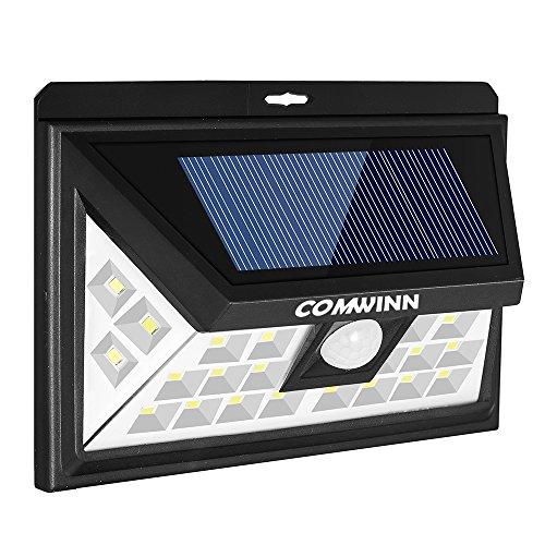 Solar Motion Outdoor Light ([Superdiscount] comwinn 24LED Solar Light Outdoor mit 3Modi Motion Sensor Sicherheit Lichter und Wireless Wasserdicht für Terrasse, Deck, Hof, Garten, Auffahrt, außen Wand W/Weitwinkel Sensor)