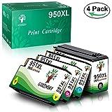 GREENSKY 4 paquets Remplacement de cartouche d'encre compatible HP 950 951 950XL 951XL Convient pour HP Officejet Pro 8100 8600 8610 8615 8620 8625 8630 8640 8660 251dw 276dw Printer...