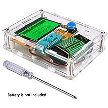 Tester transistor, Kuman Mega328 capacità Grafica transistore Tester diodo triodo, misuratore ESR MOS/PNP/NPN L/C/R, con cacciaviti e custodia trasparente K77