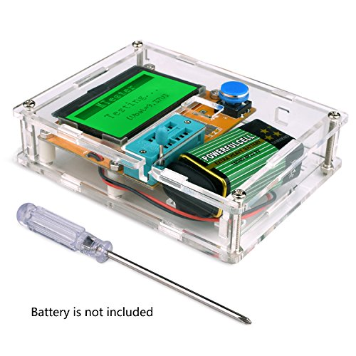 Price comparison product image Multifunction Meter DIY kit,  Kuman Mega 328 Graphic transistor Tester,  NPN PNP Diodes Triode Capacitor ESR SCR MOSFET Resistor Inductance LCD Display Checker with case and screwdriver K77