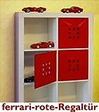 ferrari-rote-Regal-Tür für Würfelformregale, Fachgröße ca. 33,6 x 33,6 cm