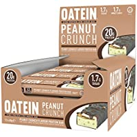 Oatein High Protein Low Sugar and Low Carb Bar, Peanut Crunch, 60 g, 12-Count