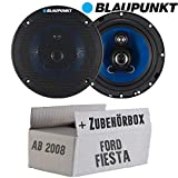 Lautsprecher Boxen Blaupunkt ICx663-16cm 3-Wege Auto Einbauzubehör - Einbauset für Ford Fiesta MK7 Front Heck - JUST SOUND best choice for caraudio
