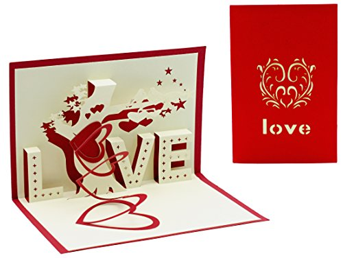 Thorani 3d pop up cartolina d'auguri / cartolina amore logo