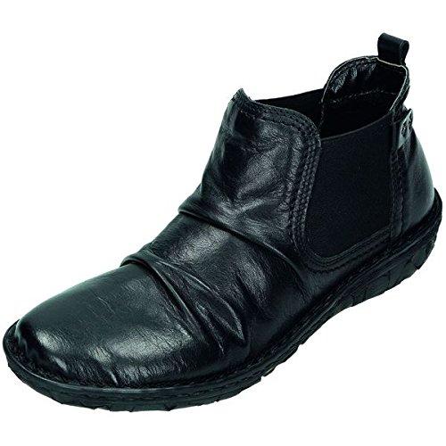 Relax a forma di scarpa da donna/stivali stivaletti in nappa, fodera in pile, estraibile base letto,, Nero (nero), 37 EU