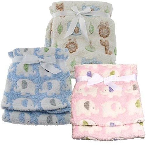 Baby Decke Kuscheldecke Schlafdecke Schmusedecke (Elefant Blau)