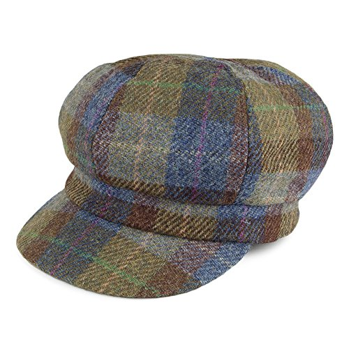 Failsworth Gabby Harris Tweed Ballonmütze - Blau-Grün - One Size (Tweed-newsboy)