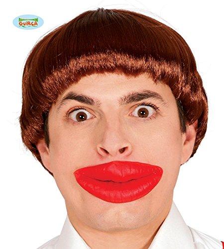 Dickens Kostüme Einfach (große rote Lippen für Clowns Erwachsene Karneval Fasching Party Zubehör Lustig Kussmund Kuss)