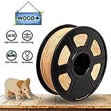 Echtholz PLA-Filament 1.75mm für 3D-Drucker / 3D-Druckstift, Taktile Gefühl von Holz, 1KG / 360m, +/- 0,02 mm Toleranz, Vakuumverpackt, RoHS-Richtlinie und Keine Potenziell Gefährlichen Substanzen (R-WOOD-1KG)