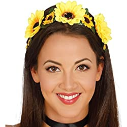 Diadema con flores amarillas