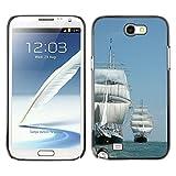 Hard Schale Skin Premium Shell Case Handy Cover Etui // M00421715 Schiff Hohes Schiff Segeln // Samsung Galaxy Note 2 II N7100