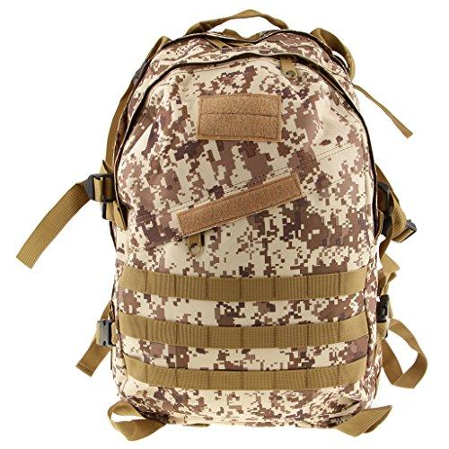 Imagen de 3d bolsa de viaje táctica senderismo  de escuela militar a prueba de agua 40l  desierto, /