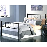 Aingoo Double Metal Platform Bed Frame with Strong Metal Slats, Black
