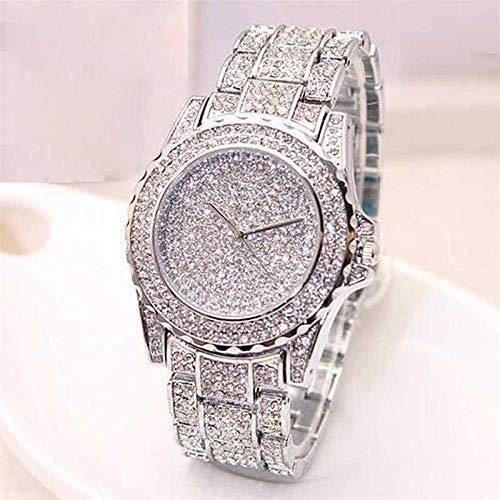 QWRjj Reloj de Pulsera Mujeres Damas Diamantes Correa de Cristal Reloj Moda Acero Inoxidable Relojes...