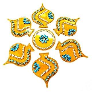 AMBA HANDICRAFT Rangoli/Home Decor/Diwali / Gift for Home/Interior Handcrafted/Floor Stickers/Wall Stickers/Wall Decoration/Floor Decoration/New Year Gift/Party. Rangoli 76