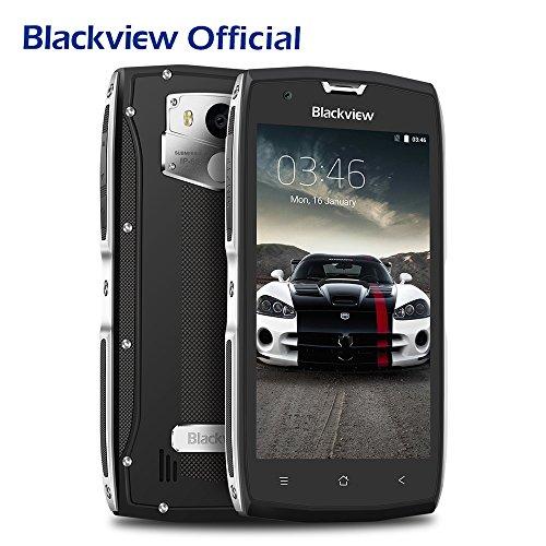 Movil Resistente Golpes, Blackview BV7000 IP68 Móvil con 2GB + 16GB y Android 7.0, Rugged Móvil (4G, NFC, 5.0 pulgadas FHD, 3500mAh, Dual SIM, 8MP CAM) - Plata