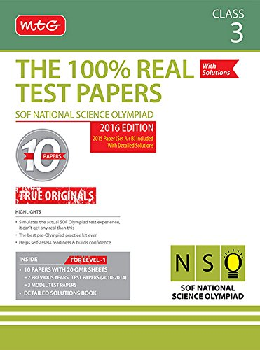 The 100 Percent Real Test Papers -NSO- Class 3