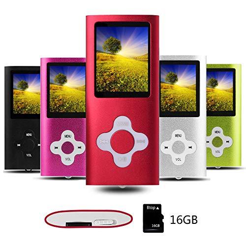 Btopllc Lettore MP3,Lettori audio portatili senza perdita di dati da 16G,Lettore MP4, Lettore...